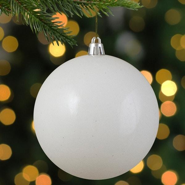 Shiny Winter White Shatterproof Christmas Ball Ornament 4 100mm On Sale Overstock 17142867
