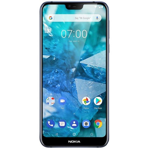Nokia 7.1 TA-1085 64GB Unlocked GSM 4G LTE Android One Phone w/ Dual 12MP 5MP Camera - Blue