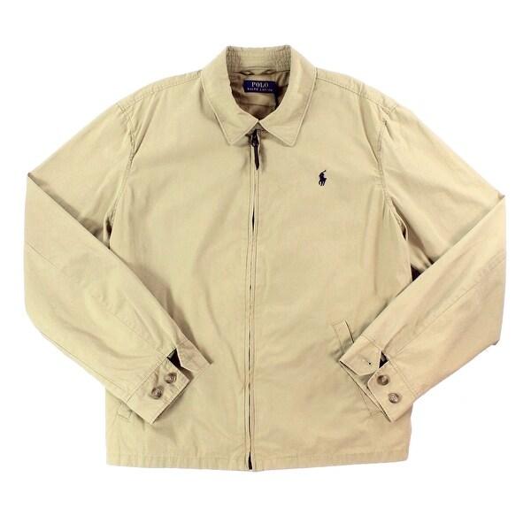 Polo Ralph Lauren NEW Beige Mens Size Small S Full-Zip Collared Jacket