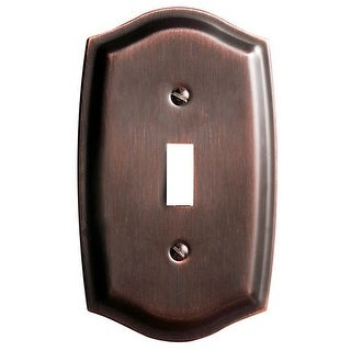 Baldwin 4756.CD Colonial Single Toggle Solid Brass Switch plate