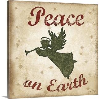 """Peace on Earth"" Canvas Wall Art"