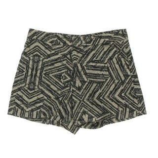 Calvin Klein Womens Printed Flat Front Casual Shorts