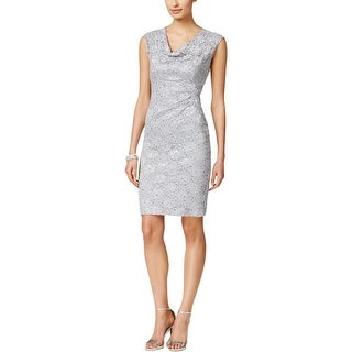 Connected Apparel Womens Petites Cocktail Dress Lace Embellished (3 options available)