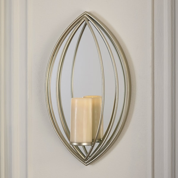 """Donnica Contemporary Glam Gold Wall Sconce - 12.25"""" W x 4"""" D x 20.25"""" H. Opens flyout."""