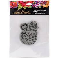 "Stampendous Laurel Burch Cling Stamp 4.75""X4.5""-Happy Heart"