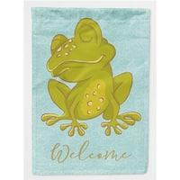 Carolines Treasures BB8564GF Frog Welcome Flag Garden Size