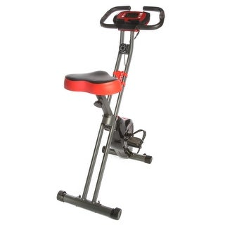 Exercise Upright Magnetic Cycling Bike Fitness Machine Foldable With Pulse Sensors and LCD Display