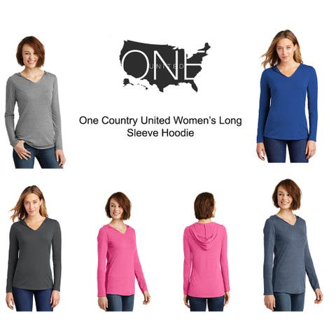 One Country United Women's Lightweight Long Sleeve Hoodie