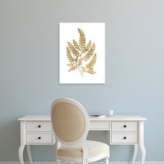 Easy Art Prints Studio W's 'Graphic Gold Fern II' Premium Canvas Art