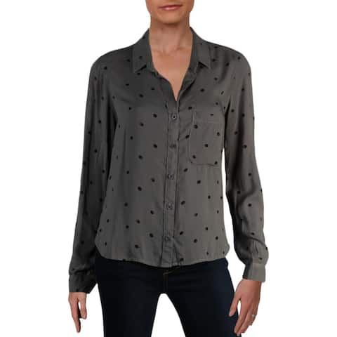 Bella Dahl Womens Casual Top Button-Down Long Sleeves