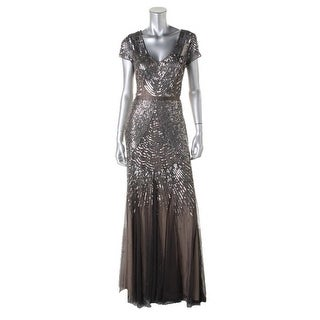 Adrianna Papell Womens Embellished Prom Evening Dress - 8