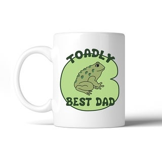 Toadly Best Dad 11 Oz Ceramic Coffee Mug