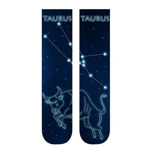 Unisex Adult Horoscope Socks - Astrological Sign Print - Taurus - One size