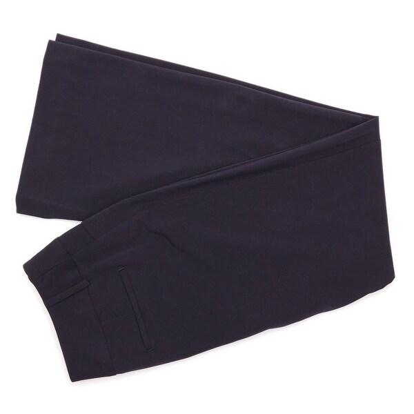 Alfani Zip Fly with Button Curvy Leg Trouser Women Regular Work Pants