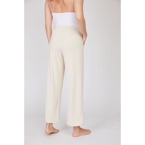 Bamboo Cropped Curve Jogger Pants
