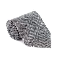 Tom Ford Mens Black White Wool Micro Square 4 Inch Wide Neck Tie