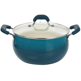 Link to Oster Corbett 5.4 Quart Nonstick Aluminum Dutch Oven in Blue Similar Items in Cookware