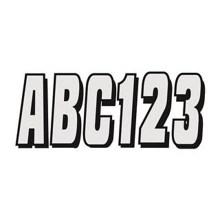 SIBLK320 320 Series 3 in. Letter-Number Kit - Silver & Black