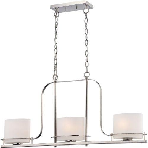 "Nuvo Lighting 60/5106 3 Light 36"" Wide Linear Chandelier"
