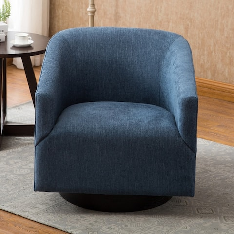 Copper Grove Pregrada Wood-base Swivel Chair