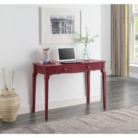 TiramisuBest Writing Desk, Red Finish