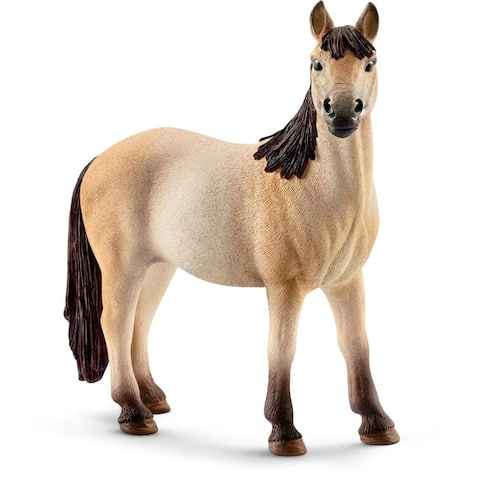 Schleich 13806 Mustang Mare Toy for Ages 3 & Up, Plastic, Tan