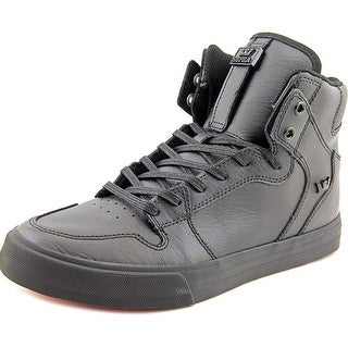 Supra Vaider Men Black/Black-Red Skateboarding Shoes
