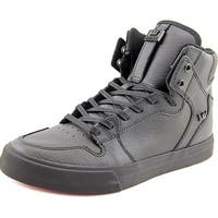 Supra Vaider Men Black/Black-Red Skateboarding Shoes