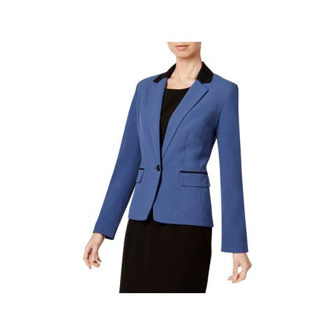 Nine West Womens Blazer Two Tone Work Wear