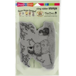 """Stampendous House Mouse Cling Stamp 7.75""""X4.5""""-Hungry Snowman"""
