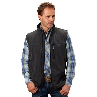 Roper Vest Mens Quality Zipper Textured Print