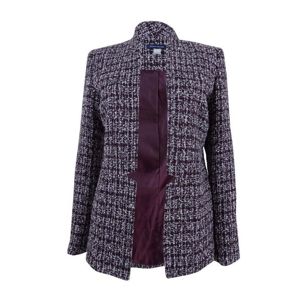 dd4d1f48 Shop Tommy Hilfiger Women's Open-Front Tweed Blazer - Free Shipping Today -  Overstock - 23025775
