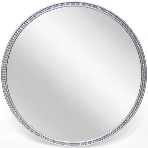 Charme 22 inch Durable Resin Decorative Silver Round Wall Mirror - Grey/Silver