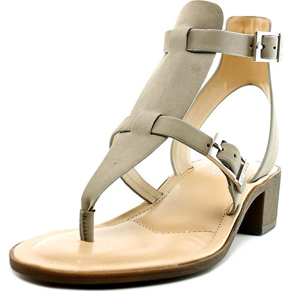 Charles By Charles David Calvin Women Open Toe Synthetic Gray Thong Sandal