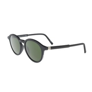 Montblanc MB608S/S 02N Matte Black Round Sunglasses - 60-18-135