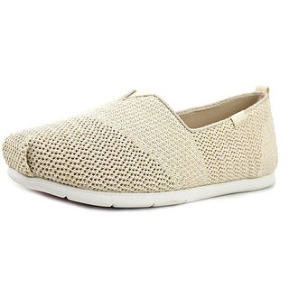 Bobs by Skechers Plush Lite Flash Lite Women Square Toe Canvas Ivory Espadrille