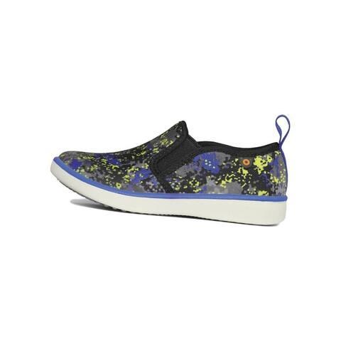 Bogs Outdoor Shoes Boys Kicker Slip On Micro Camo Blue Multi