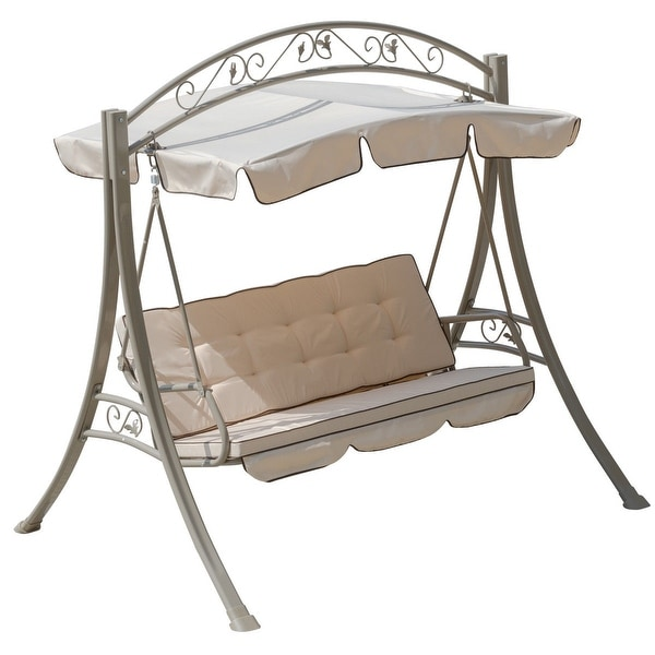 Shop Gymax Hammock Swing 3 Seats Canopy Deluxe Chair Outdoor Patio