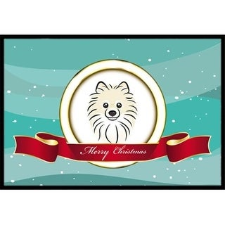Carolines Treasures BB1517JMAT Pomeranian Merry Christmas Indoor & Outdoor Mat 24 x 36 in.