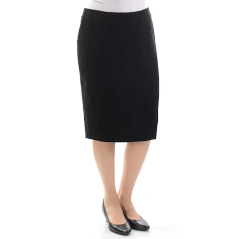 ARMANI Womens Black Knee Length Pencil Skirt Size: 4