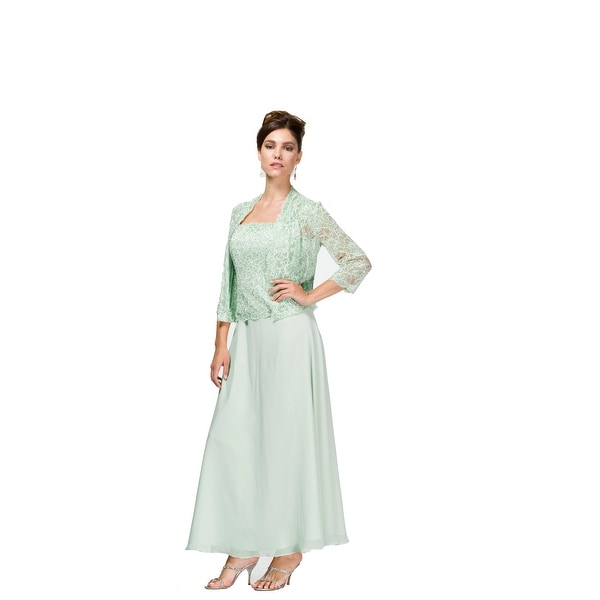 Shop Lace   Chiffon Gown w  Jacket - Free Shipping Today - Overstock -  16147840 98cf9b3a0770