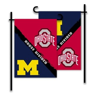 Bsi Products Inc Michigan - Ohio St 2-Sided Garden Flag - Rivalry House Divided Garden Flag