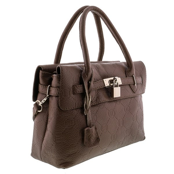 HS8025 CU RAFA Leather Satchel/Shoulder Bag - Tan - 11.5-9-4.5