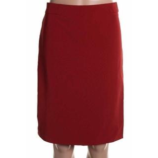 Zara Womens Knee-Length Solid Straight Skirt - S