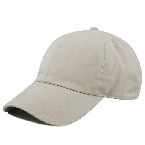 Newhattan Plain 100% Cotton Hat Men Women Adjustable Baseball Cap