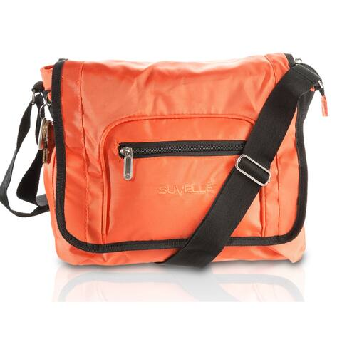 Suvelle Flapper Travel Crossbody Bag Shoulder Handbag Multi Pocket Nylon Purse 9902