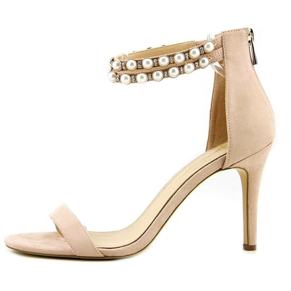 Jessica Simpson Womens Jalinda 2 Open Toe Special Occasion, Blush, Size 10.0
