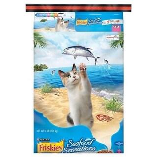 Provi 050139 16 lbs Purina Friskies SeaFood Sensations Dry Cat Food