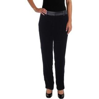 Sam Edelman Womens Silk Blend Velvet Casual Pants