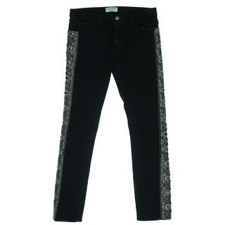 Each x Other Womens Yi Zhou Straight Leg Jeans Embellished Slouchy - 26